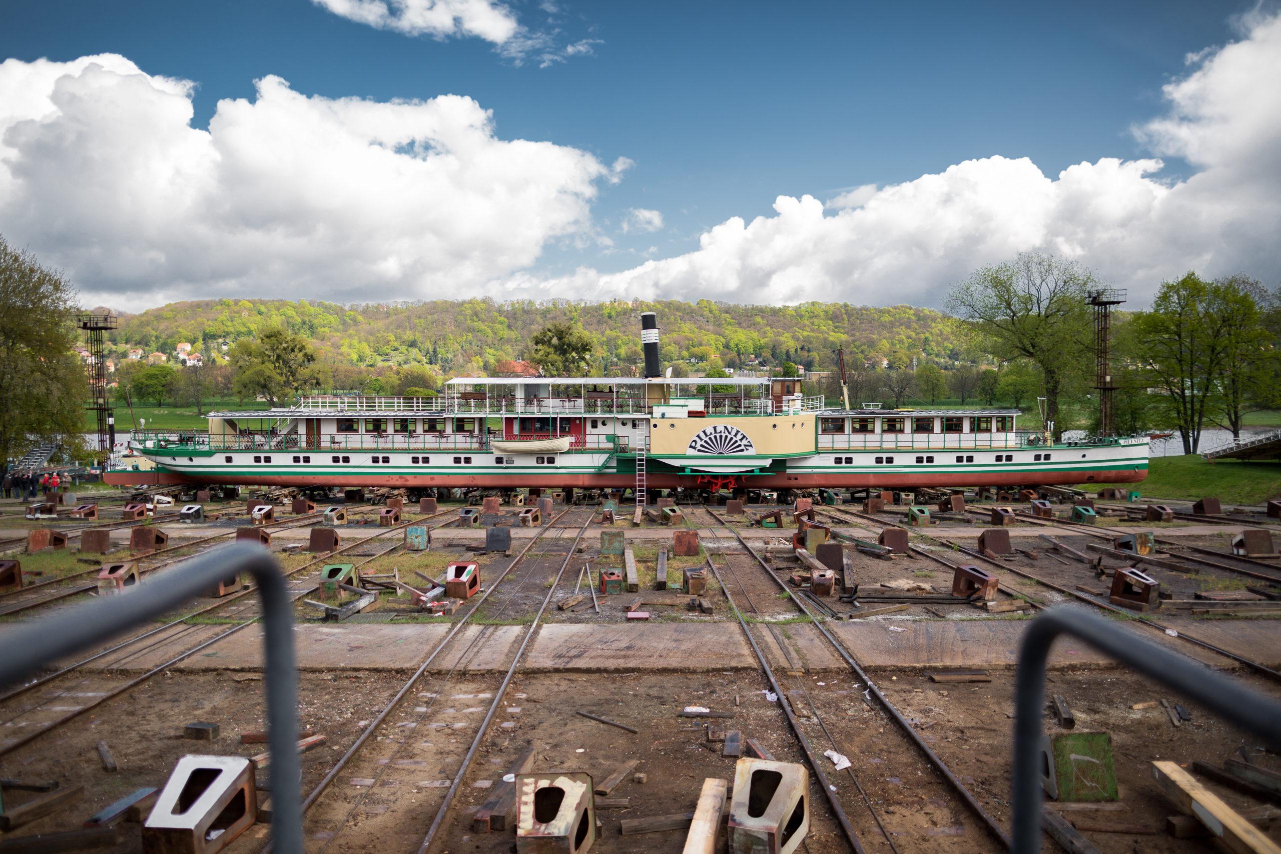 Dampfer Pillnitz in der Werft