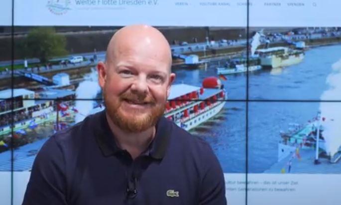 Börsianer Jens Rabe macht sich für die Raddampfer in Dresden stark