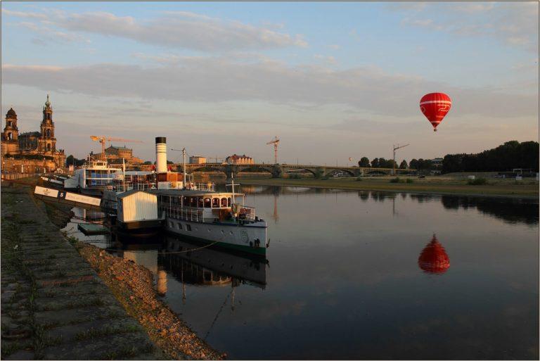 PD Leipzig am Terrassenufer mit Ballon