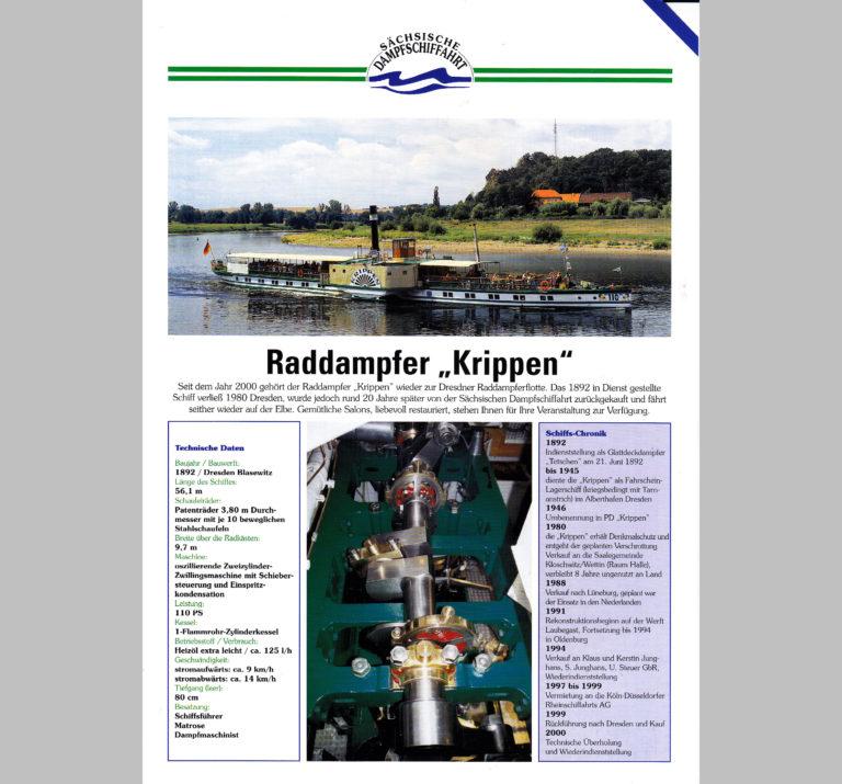 """PD """"Krippen"""" Datenblatt (Vorderseite)"""