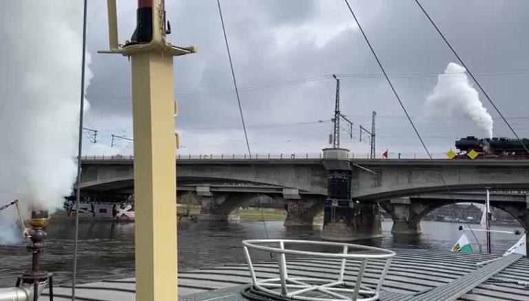 Video - Dampfer und Lok vom Schiff aus