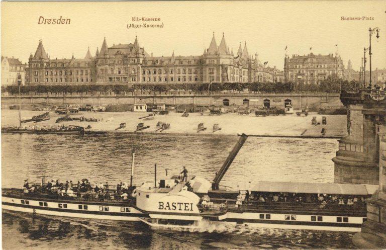 """Albertbrücke Dresden mit PD """"Bastei"""""""
