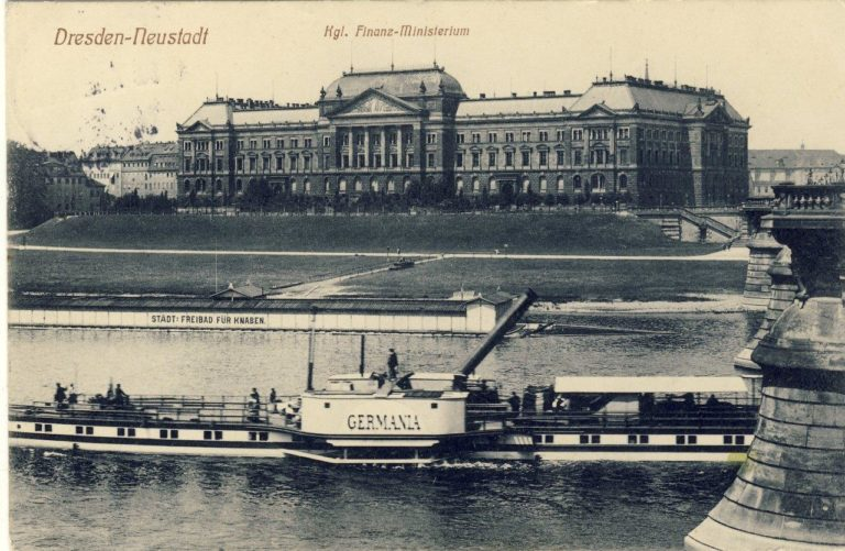 """PD """"Germania"""" am Finanzministerium Dresden"""