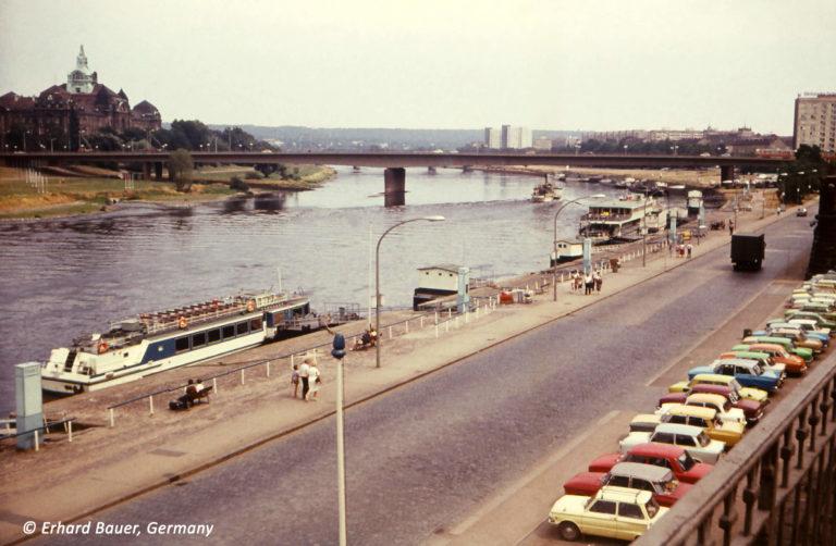 Terrassenufer Dresden 1982