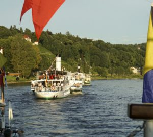 Abdampfen der Dresdner Raddampferflotte